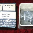 Vintage Fisher Scientific Mechanical Hand Tally Counter Japan MINT in box