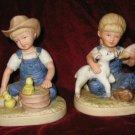 1985 Homco Denim Days New Beginnings Figurine 1500