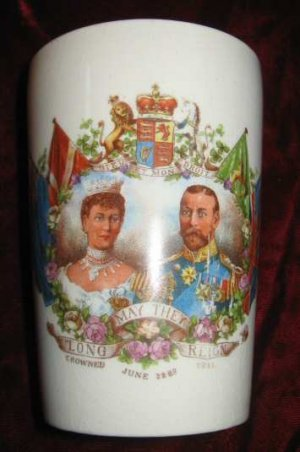1911 King George V Queen Mary Commemorative Cup Mug Beaker