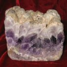 Geodes Amethyst Agate Crystal Rock Quartz Bookend 2.4lbs