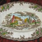 Vintage Myott Fine Staffordshire Ware The Brook Oval Plate England