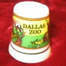 Dallas Zoo Collectible Porcelain Souvenir Thimble