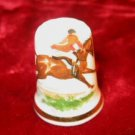 Finsbury Fine Bone China Equestrian Horse Riding Thimble England