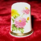 Finsbury Wild Flowers Porcelain Bone China Thimble England