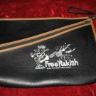 Black Vinyl Free Rakish Zippered Messenger Document Bag