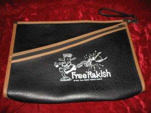 Black Vinyl Free Rakish Zippered Messenger Document Bag