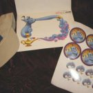 Disney Aladdin Genie Hat Cap Sticker Photo Frame Holder