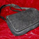 Black Suede Leather Barganza Purse Handbag Satchel Bag
