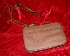 Brown Handbag Shoulder Sling Toiletry Bag