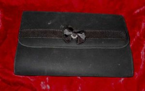 Vintage Black Purse Handbag Shoulder Clutch Bag