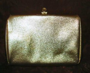 Vintage Gold Purse Handbag Clutch Evening Bag