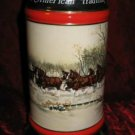 1990 Budweiser Clydesdale Holiday Stein Mug An American Tradition Susan Sampson CS112