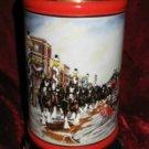 1992 Budweiser Clydesdale Holiday Stein Mug A Perfect Christmas Susan Sampson CS167