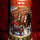 1993 1994 Budweiser Clydesdale Beer Stein Collection Hometown Holiday