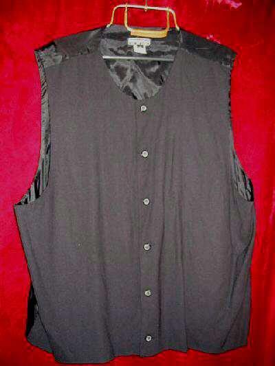 Mens Enrico Capucci Black Wool  Vest Button XL or XXL