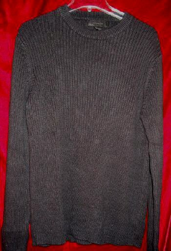 Mens Express Black Crew Sweater Fleece Shirt L