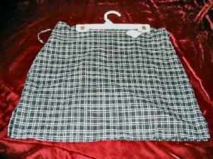 NEW High Fashion Stretch Gray Mini Plaid Skirt Size L Business Sexy USA