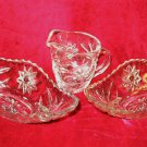 ANCHOR HOCKING PRESCUT GLASS RELISH TRAY DISH CREAMER