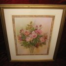 Nice Rose Floral Flower Art Print Poster Wooden Gold Frame