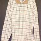 New Polo Style Shirt Pull Over Collar Tan Plaid 3XLT 3XT  Big Tall Mens Clothing  410031-2