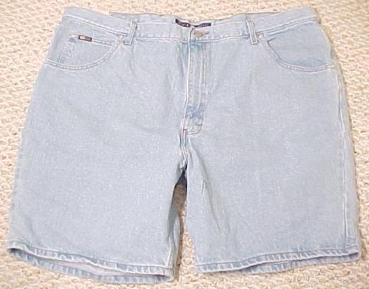 New Denim Jean Shorts Jeans Lt Med Stone Size 40  Mens Clothing  600301