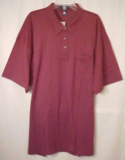 New Burgundy Polo Golf Shirt Collar  2xlt 2xt 2x Big Tall Mens Clothing  410171