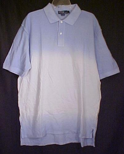 New Ralph Lauren Polo Golf Shirt Faded Blue Size 4X 4XL Big Tall Men's Clothing 410551