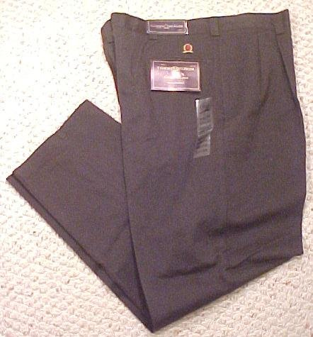 New Tommy Hilfiger Pleated Black Pant Pants 42 X 32 Big Tall Mens Clothing  410661