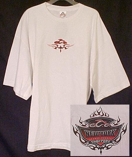 New OCC Orange County Choppers Motorcycle White T-shirt 3X 3XL  Big Tall Mens Clothing 410531