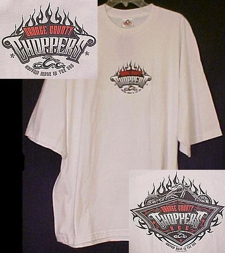 New Occ Orange County Choppers Motorcycle White T-shirt 4XL 4X Big Tall Mens Clothing 410711