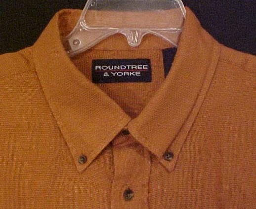 New Button Down Collar Short Sleeve Shirt Ginger 2X 2XL Big Tall Mens Clothing 600361