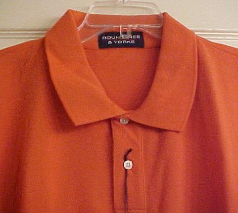 New Polo Shirt Short Sleeve Pull Over Collar Orange Size 2X 2XL Big Tall Mens Clothing 600731