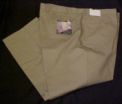 Roundtree & Yorke Khakis Flat Front Pants Pant Classic Fit 48 X 34 Big Tall Mens Clothing 600861-6