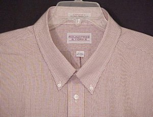 Roundtree &amp; Yorke Button Down Short Sleeve Collar Dress Shirt 20 20T Big Tall Mens Clothing 600921