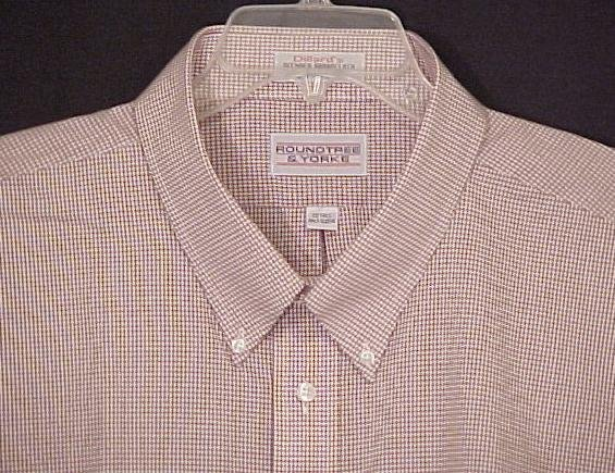 Roundtree & Yorke Button Down Short Sleeve Collar Dress Shirt 19 19T Big Tall Mens Clothing 600931