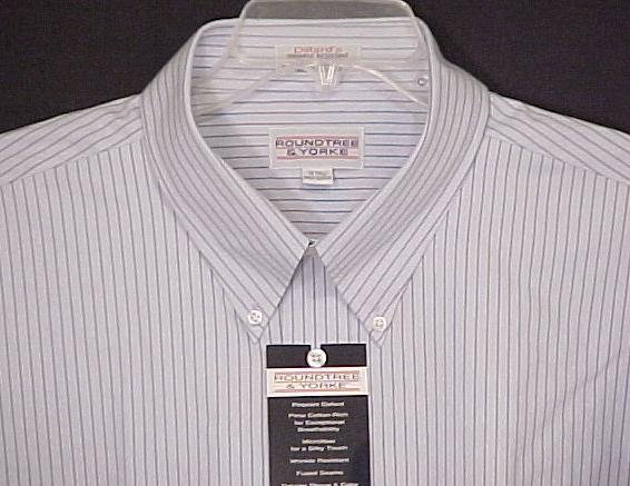Roundtree & Yorke Button Down Short Sleeve Collar Dress Shirt 19 19T Big Tall Men Clothing 600951-2