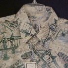 Roundtree & Yorke Button Front Shirt Short Sleeve Silk Cream 3XLT 3XT Big Tall Men Clothing 600981