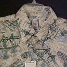 Roundtree & Yorke Button Front Shirt Short Sleeve Silk Cream 3XLT 3XT Big Tall Men Clothing 600981