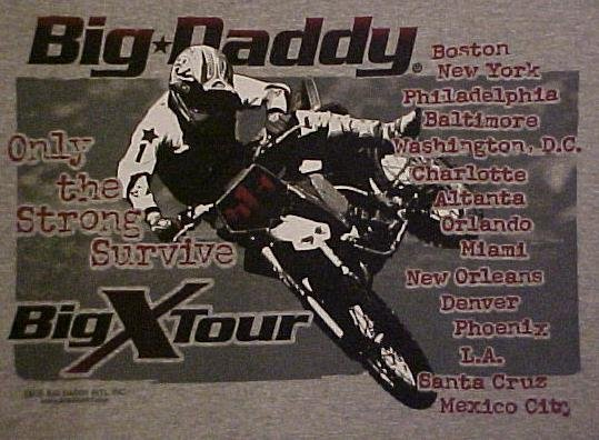 Big Daddy Gray Motor Bike X Tour Long Sleeve T-shirt 2XL 2X Big Tall Mens Clothing 601001-5