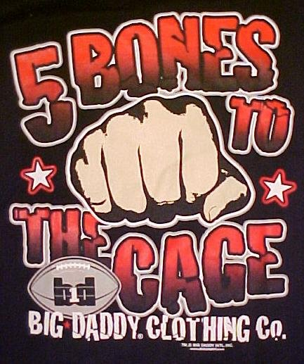 Big Daddy Black Football 5 Bones Long Sleeve T-shirt 2X 2XL Big Tall Mens Clothing 601021-3