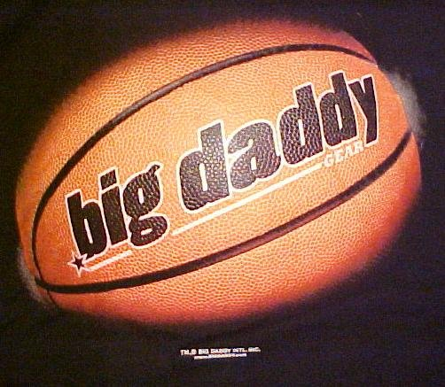 BIG DADDY Clothing Company T-Shirt Basketball Black 2XL 2X Big Tall Mens Clothing 601151