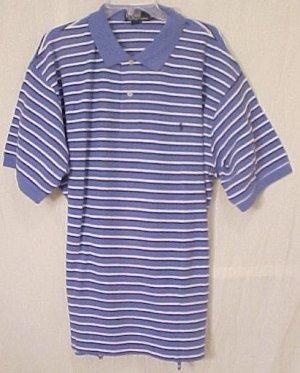 Ralph Lauren Polo Golf Shirt Short Sleeve 2X 2XL Blue Stripe Big Tall Men's Clothing  601171