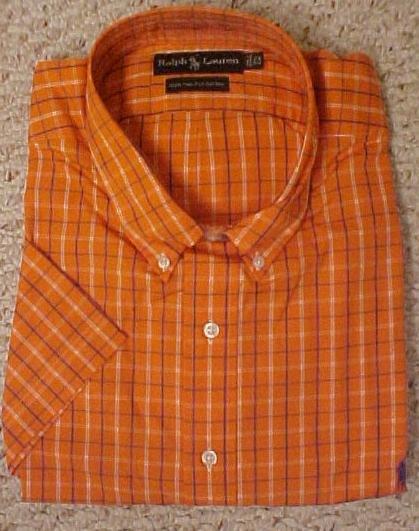 Ralph Lauren Button Down Shirt Short Sleeve Size 2X 2XL Big Tall Men's Clothing 601321