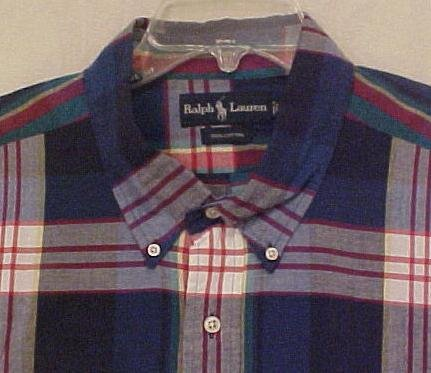 Ralph Lauren Button Down Short Sleeve Shirt Size 2X 2XL Big Tall Men's Clothing 601331