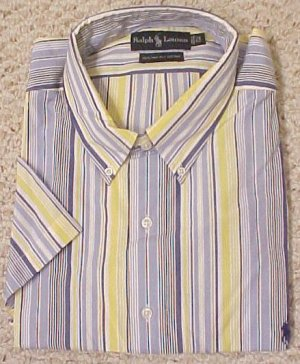 Ralph Lauren Button Down Short Sleeve Shirt 2XLT 2XT Big Tall Men&#039;s Clothing 601861