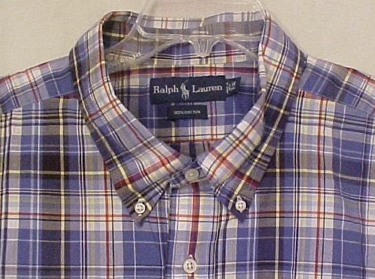 Ralph Lauren Button Down Collar Shirt Short Sleeve 3XLT 3XT Big Tall Men's Clothing 601481-3