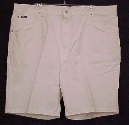 NEW White Denim Jeans Shorts Size 44 Big Tall Mens Clothing  601621