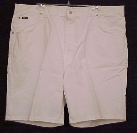 NEW White Denim Jeans Shorts Size 44 Big Tall Mens Clothing  601621