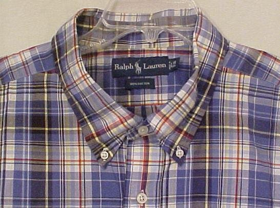 Ralph Lauren Button Down Collar Shirt Short Sleeve Size 2X 2XL Big Tall Men's Clothing 601451