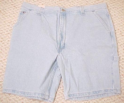 NEW Lt Blue Denim Jeans Carpenter Shorts Size 44 Big Tall Mens Clothing 601631